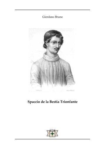 Spaccio de la Bestia trionfante - Ousia.it