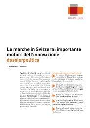 Le marche in Svizzera: importante motore dell ... - Economiesuisse