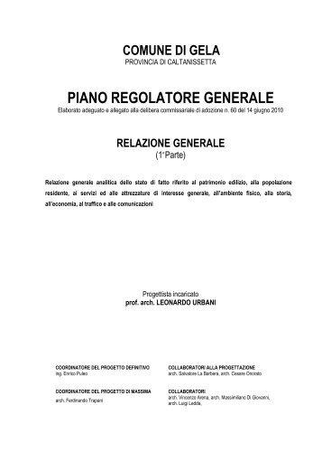 Relazione generale - Parte I - Comune di Gela
