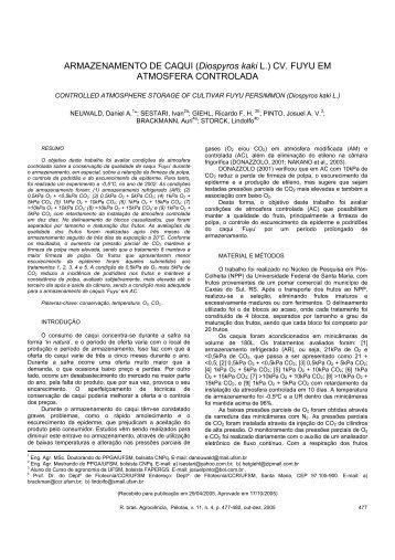 ARMAZENAMENTO DE CAQUI (Diospyros kaki L.) - PERIÓDICOS ...