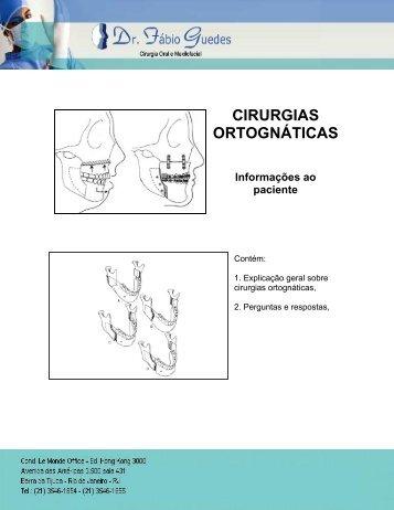 CIRURGIAS ORTOGNÁTICAS - Cirurgia Buco Maxilo Facial