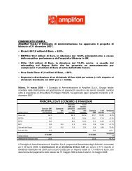 Progetto di Bilancio al 31 dicembre 2007 - in Amplifon