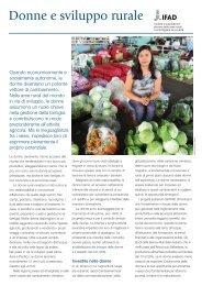 Donne e sviluppo rurale - IFAD