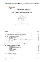 26.2 vorläufige Kinderkrippenkonzeption - Amelinghausen