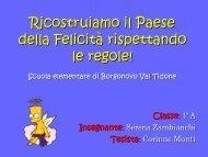 Ricostruiamo il Paese della Felicità rispettando le ... - USP di Piacenza