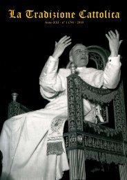 La Tradizione Cattolica - Fraternità Sacerdotale San Pio X