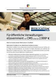 Füröffentliche Verwaltungen: eGovernment mit CMS schon ab 2.999 ...
