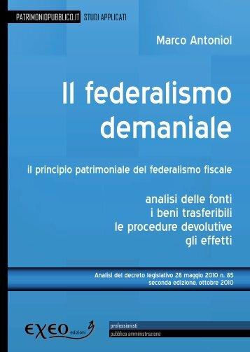 FEDERALISMO DEMANIALE - il principio patrimoniale del ... - Exeo