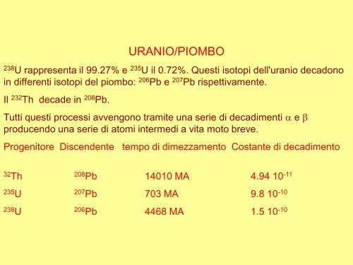 Rubidium-87 datazione radiometrica