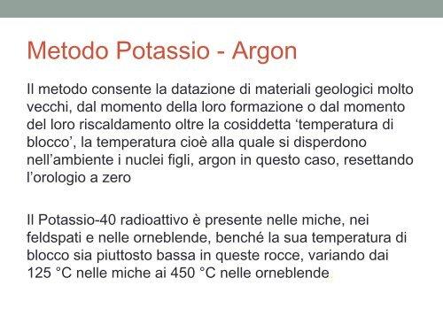 Datazione di potassio-argon e Argon-Argon