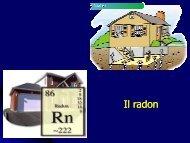 Il radon - Corso di laurea in tecniche della prevenzione nell ...