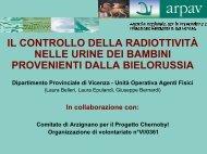 Analisi della radioattività nelle urine dei bambini bielorussi e ...