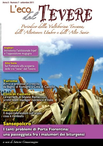 Numero 7 - Settembre 2011 - Scarica l'edizione in ... - Saturno Notizie