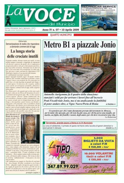 Idrogross Ceramiche Via Di Settebagni.Municipio Iv 07 Qxd La Voce Del Municipio