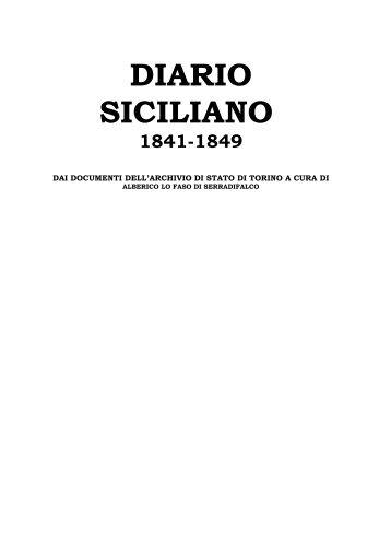 diario siciliano 1841-1849 - Mediterranea ricerche storiche