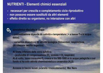 NUTRIENTI - Elementi chimici essenziali