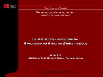 Marianna Tosi, Istat Sardegna - Dati demografici - Comune di Cagliari