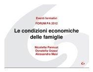 Le condizioni economiche delle famiglie - Forges - Gestionale ...