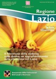 Ricerca sul fenomeno della violenza sulle donne ... - Regione Lazio