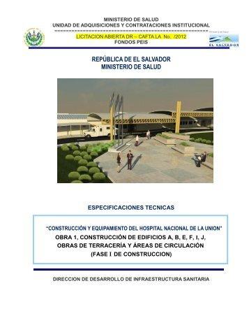 especificaciones tecnicas de licitación publica - Ministerio de Salud