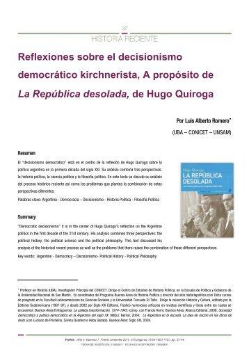 Reflexiones sobre el decisionismo - Historia Política