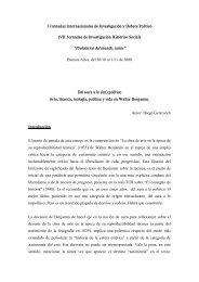 (im)político. Arte, tecnología, política y vida en Walter Benjamin
