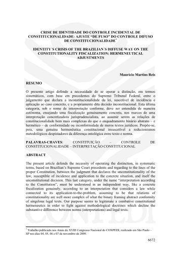 6672 CRISE DE IDENTIDADE DO CONTROLE ... - publicaDireito