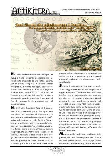 Quei Cirenei che colonizzarono il Pacifico… di Alberto ... - Liutprand