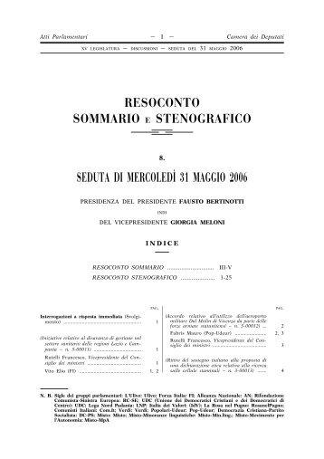 Atti di controllo e di indirizzo xv legislatura camera for Camera deputati indirizzo