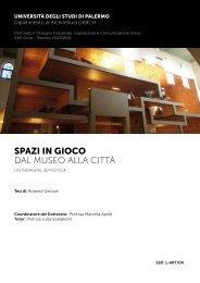SPAZI IN GIOCO DAL MUSEO ALLA CITTÀ - Galleria Roma