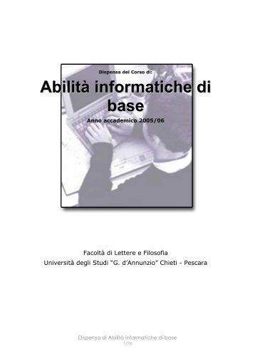 Abilità informatiche di base - Università Gabriele d'Annunzio