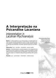 A Interpretação na Psicanálise Lacaniana Interpretation in ... - Unimep