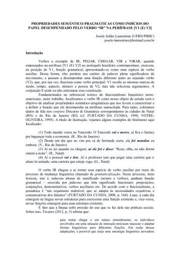 PROPRIEDADES SEMÂNTICO-PRAGMÁTICAS COMO ... - GELNE
