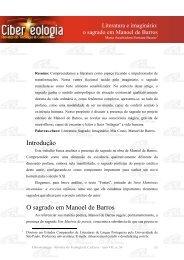 Introdução O sagrado em Manoel de Barros - Ciberteologia