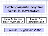 atteggiamento verso la matematica - Liceo Scientifico