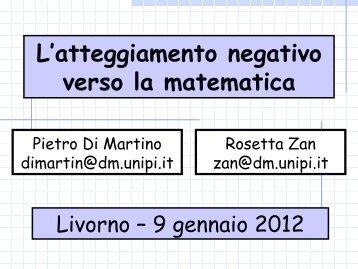 """atteggiamento verso la matematica - Liceo Scientifico """"F.Cecioni"""""""