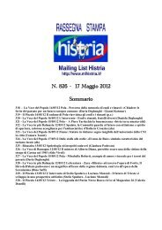 Sfoglia la Rassegna stampa - Arcipelago Adriatico