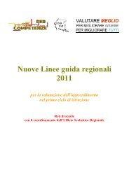 Nuove Linee Guida Regionali in materia di valutazione ... - Icgonars.It