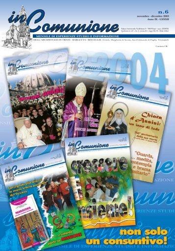 n. 6 novembre/dicembre 2003 - inComunione