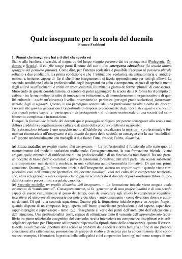 prof. Franco Frabboni - Portale per l'educazione