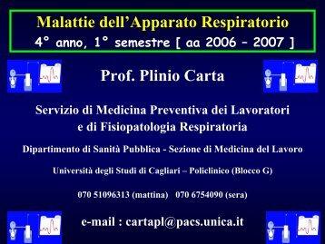 Le Polmoniti - Medicina - Università degli studi di Cagliari.