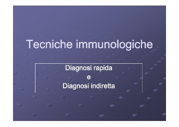 Tecniche immunologiche