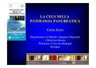 LA CEUS NELLA PATOLOGIA PANCREATICA Carla Serra