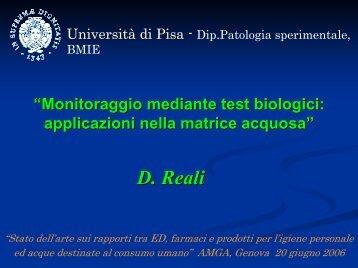 Monitoraggio mediante test biologici - Fondazione AMGA