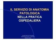 il servizio di anatomia patologica nella pratica ospedaliera