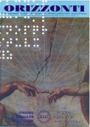 orizzonti anno 9 numero 2 - 31 luglio 2004 - Unione Italiana dei Ciechi