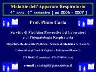 Fisiopatologia respiratoria: Test funzionali - Medicina - Università ...