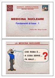 MEDICINA NUCLEARE - Università degli Studi di Padova