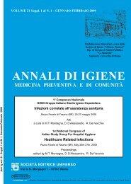 Atti - Società Italiana di Igiene Medicina Preventiva e Sanità Pubblica