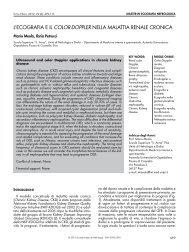 l'ecografia e il color-doppler nella malattia renale cronica
